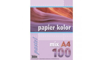 Papier xero A4/80g KRESKA mix kolor pastel (500ark.)