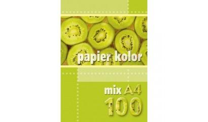 Papier xero A4/80g KRESKA mix kolor (100ark)