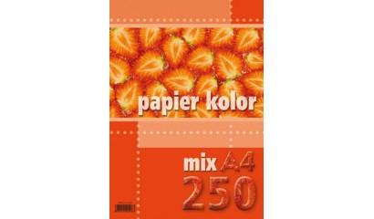 Papier xero A4/80g KRESKA mix kolor FLUO (250ark.)