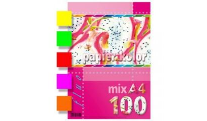 Papier xero A4/80g KRESKA mix kolor FLUO (100ark)