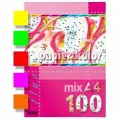 Papier ksero A4 / 80g KRESKA mix kolor FLUO (100ark)