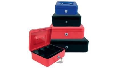 Kasetka na pieniądze EAGLE 8878 S 77x157x207mm czerwona 120-1030