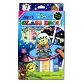 Farby witrażowe AMOS FLUO 6kol+1kont.22ml GD22P7R