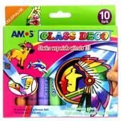 Farby witrażowe AMOS Glass 9 kolorów +1 kontur 10,5ml GD10P10