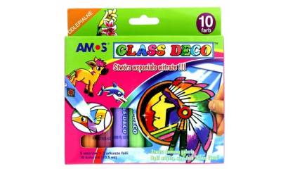 Farba witrażowa AMOS Glass 9kol.+1 kontur 10,5ml GD10P10