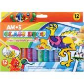 Farby witrażowe AMOS Glass 10 kolorów +2 kontury + klej10,5ml GD10P12R