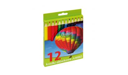 Kredki ołówkowe GRAND Jumbo 12 kol. 170-1370