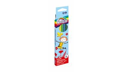 Kredki ołówkowe FIORELLO Super Soft, trójkątne 6 kol. 170-2186