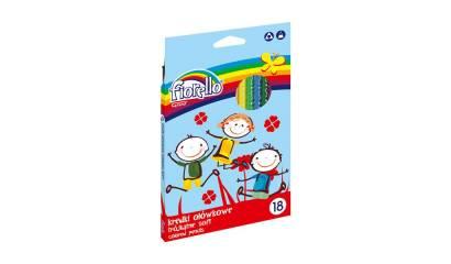 Kredki ołówkowe FIORELLO Super Soft, trójkątne 18 kol. 170-2187