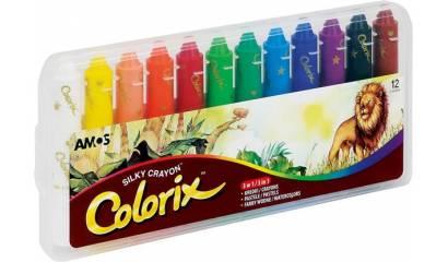 Kredki artystyczne AMOS COLORIX 3w1 12kol. CRX5PC12
