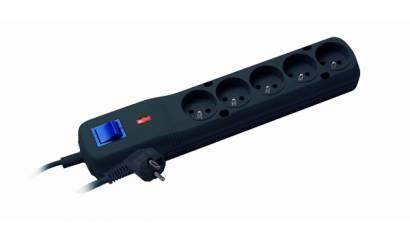 Listwa zasilająca LESTAR LV-530W 5w 1,5mb czarna