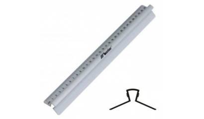 Linijka LENIAR 20cm 30316 aluminiowa z uchwytem