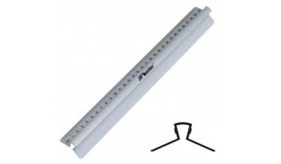 Linijka LENIAR 30cm 30317 aluminiowa z uchwytem