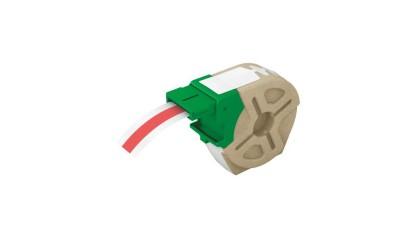 Kaseta z samoprzylepną, plastikową taśmą do drukowania etykiet LEITZ Icon, szer. 12mm, czerwona 70150025