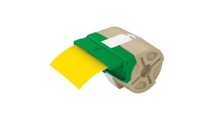 Kaseta z samoprzylepną, plastikową taśmą do drukowania etykiet LEITZ Icon, szer. 88mm, żółta 70160015