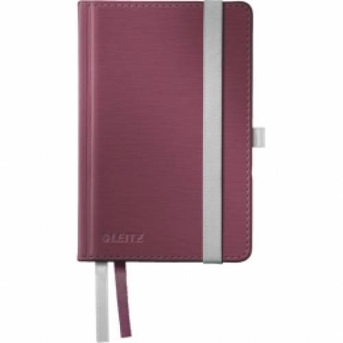 Notatnik w twardej oprawie LEITZ Style A6, w kratkê, ciemnoczerwony 4491-00-28