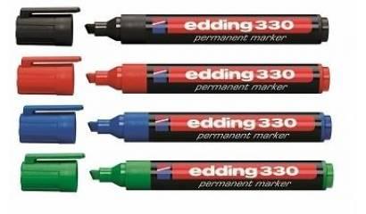 Marker permanentny EDDING 330 ścięty