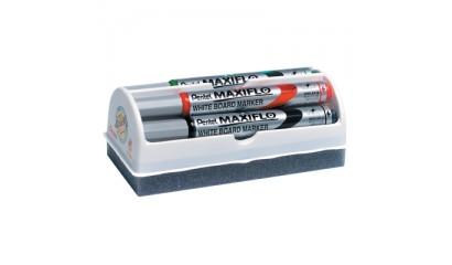Marker suchościeralny PENTEL Maxiflo MWL5S-4N 4kol. z gąbką