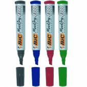 Marker permanentny BIC 12304 ścięty kpl. 4 kolory  820922