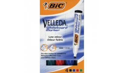 Marker such.BIC Velleda 1704 k.okrągła 4szt.