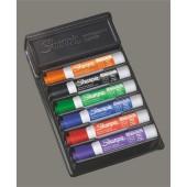 Marker suchościeralny SHARPIE Expo Low Odour 6kol. +gąbka S0743981