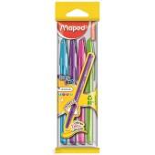 Długopis MAPED Ice Fine 1,0 ( błękit,róż,fiolet,jasnozielony)  kpl. 4 kol. 224546