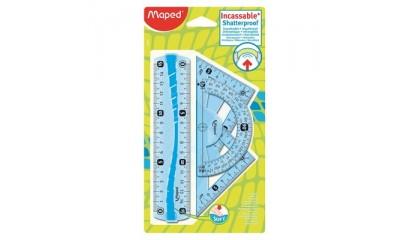 Zestaw linijek MAPED Flex z gumowymi elementami blister 244069