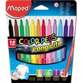 Flamastry trójkątne MAPED ColorPeps kpl.12kol 845020 wyprawka szkolna