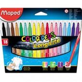 Flamastry trójkątne MAPED ColorPeps kpl.18kol. 845021