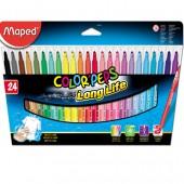Flamastry trójkątne MAPED ColorPeps kpl.24kol 845022