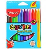 Kredki plastikowe trójkątne MAPED ColorPeps kpl.12kol. 862011