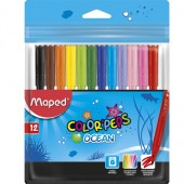 Flamastry MAPED ColorPeps Ocean 12kol. 845720 artykuły szkolne
