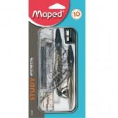 Cyrkiel MAPED Study 10 elementów  blister 019409