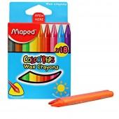 Kredki świecowe MAPED ColorPeps WAX kpl.18 kolorów  86101207