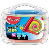 Kredki akwarelowe MAPED Colorpeps żelowe kpl. 6 kolorów 836306