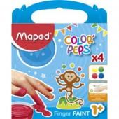 Farby do malowania palcami MAPED Colorpeps 4kol. 812510