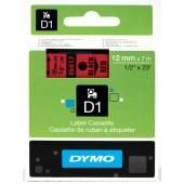 Taśma DYMO 12mm / 7m czarno / czerwona 45017