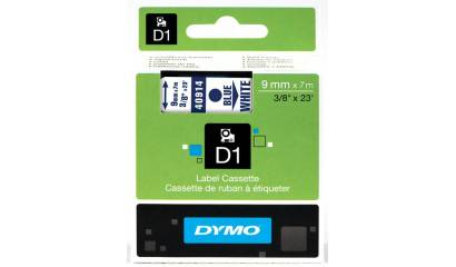 Taśma DYMO 9mm x 7m niebiesko/biała 40914