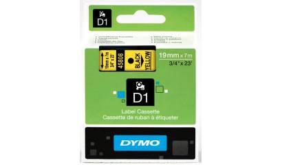 Taśma DYMO 19mm/7m czarno/żółta 45808