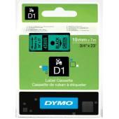 Taśma DYMO 19mm / 7m czarno / zielona 45809