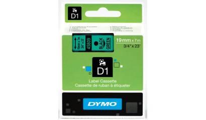 Taśma DYMO 19mm/7m czarno/zielona 45809