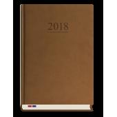 Kalendarz książkowy Menadżera  A5 dzień/strona T-203V-S2 c.brąz