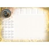 Kalendarz na biurko  PLANER A2 z listwą mix wzorów