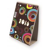 Kalendarz biurkowy ze spiralą  pionowy T-101 mix wzorów