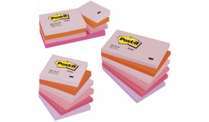 Bloczek samoprzylepny 3M Post-it 76x127mm P.Radosna 6 bl. po 100kart. 655FLJO