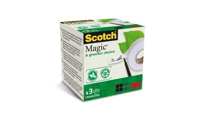 Taśma ekologiczna 3M Scotch Magic 19 mm x 33m matowa (3szt) 900-1933-3
