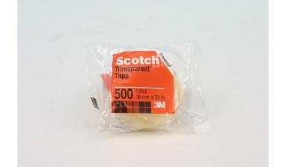 Taśma ekonomiczna SCOTCH 3M 18mm x 33m w folii 500 XX004822423