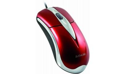 Mysz optyczna ACTIVE JET AMY-003 USB czerwono/srerbrna