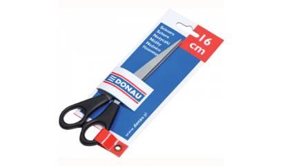 Nożyczki DONAU 16cm czarne 7922001PL-01