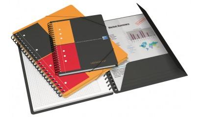 Kołonotatnik z teczką OXFORD MEETINGBOOK A4+/80k kratka 001701
